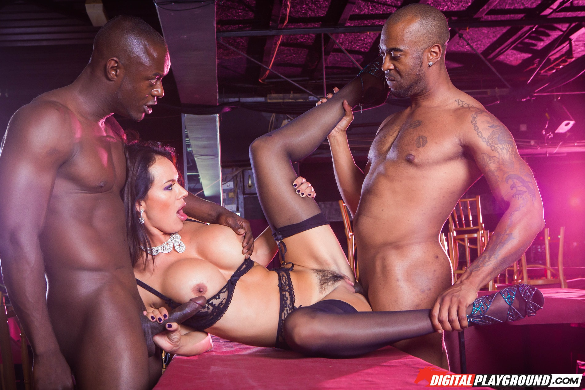 Ebony lesbian stripper party